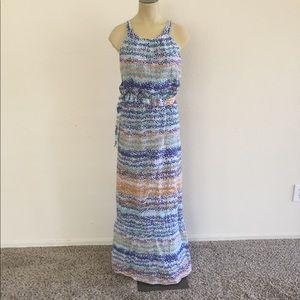 Ann Taylor Crinkle Summer Maxi Dress size 8!